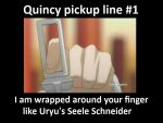 Quincy pickup line #1 by Gaia798