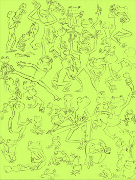 Many Frogs by GlassesTwirler09