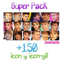 +SuperPackIcons-Bieber. by IsaahJustMe