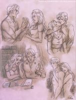 Commission73 - Maelerys/Daegon sketchpage by Nike-93