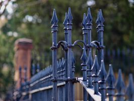 rod iron fence top by fotophi