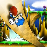 Green Hill Zone by iluvcookiess