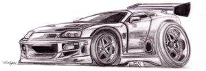 1994 Toyota Supra - The Fast and Furious Toon by theTobs