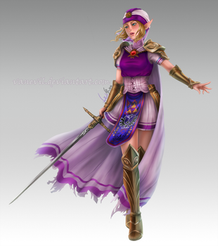 C: Princess Zelda by VanEvil