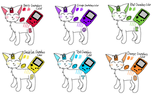 Gameboy Color Aria Cats CLOSED by beckyyx3