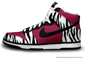 Urban Zebra Hi Dunks by JCartist