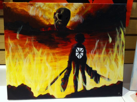 Attack in Titan Painting Whatever by tehprettykitteh