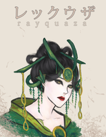 Rayquaza Gijinka by sheepsgobaaa