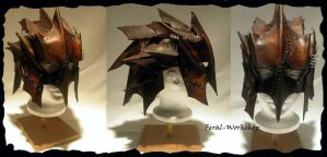 Goblin helm by Feral-Workshop