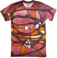 Abstract-pink-cosmos-art by santoshirts
