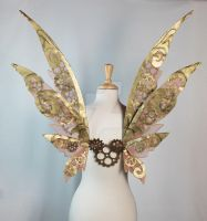 Steamfae (Steampunk) Wings by glittrrgrrl
