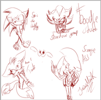 :sonic:Doodle Stuff by Jazz-M-Ink