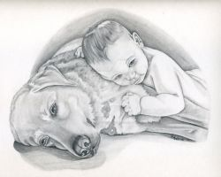 A Boy and His Dog by beckadoodles