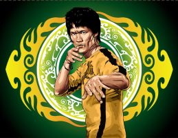 Bruce Lee by Wahyu-Satriono