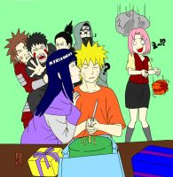 Happy Birthday Naruto -Colored- by FranCullenBlackJ