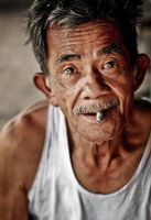 old smoking guy by A-Rashed