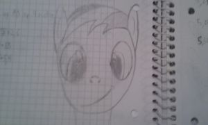 Rainbow Dash First Drawing by WizE-KevN