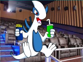 Lugia in the Theather by DarkraDx