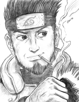 A sucky Asuma drawing by Firu-Kun