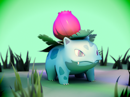 002 Ivysaur by DarkBere