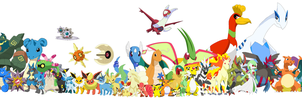 Pokemon, every one that I've drawn by DarthGoldstar710