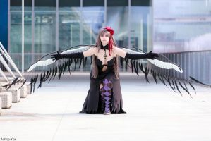 Homucifer cosplay Madoka Magica Rebellion by Achico-Xion