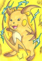 Raichu Sketch Card by ibroussardart