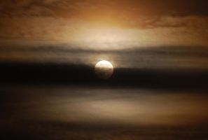 Cloudy Full Moon 2. by quaddie