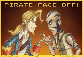 Guybrush vs. Bugeye by ZombiDJ