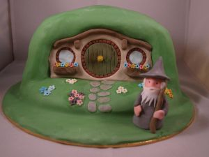Hobbit Cake by sparks1992