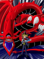 Slifer and YamiYugi by Nami-v