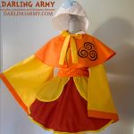 Airbender Avatar Cosplay Kimono Dress and Capelet by DarlingArmy
