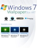 Windows 7 Box ART Wallpaper by CaHilART