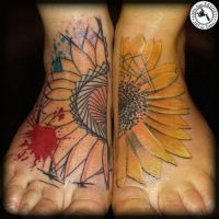 Sunflower by arturtattooart