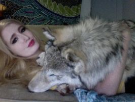I cuddle with wolves. by Brillyent-Blondie