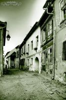 Sighisoara street by Wintertale-eu