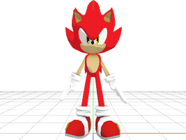 Fire Sonic For MMD 1.1 by supermariobros44