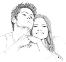 Dylan O'Brien and Holland Roden by Golden-Plated