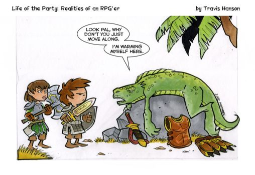 Lizard man - rpg comic by travisJhanson