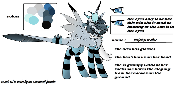 Project 34 New Dezin Ref by Alise-The-WingedWolf