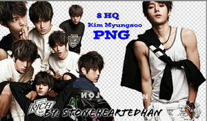 Kim Myungsoo Png Pack by StoneHeartedHan