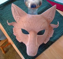 Japanese Fox WIP...shaped mask by merimask