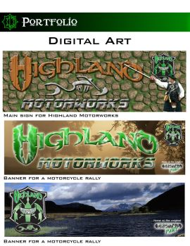 Highland Motorworks banners by Turtlewurx
