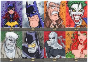 Batman: The Legend - Finch Sketch Cards part 2 by PatrickFinch
