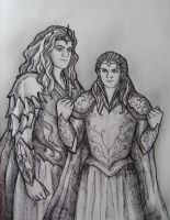 Melkor and Sauron by AnotherStranger-Me