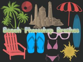 Beach Photoshop Brushes by petermarge