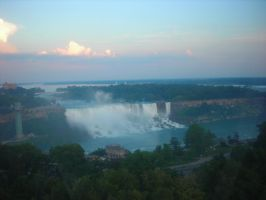 Sunset at Niagara Falls by Lady-Blue