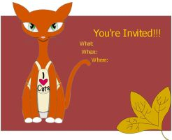 Cat Invitation Template by BananaFuu