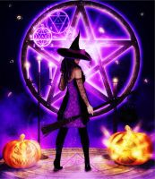 Witch of All Hallows' Eve by Frollein-Zombie