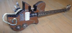 Steampunk Guitar 2 by Pooka-Pooka
